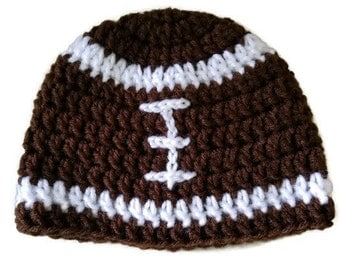 Crochet football hat, baby football hat, baby boy hat, baby sports hat, crochet baby hat,  photo prop, football beanie