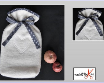 Hot water bottles-cover with hot water bottle. nadeloehr25.