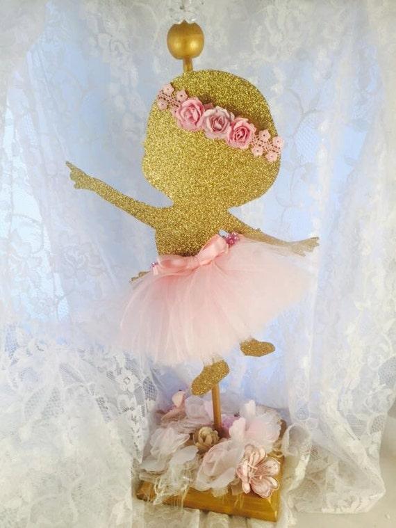 Baby Girl Ballerina Centerpiece Party Decorations Ballet