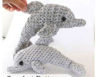 Dolphin Crochet Pattern, Easy Amigurumi Pattern, Crochet Dolphin Toy Pattern, Plush Dolphin Pattern, Beginner Amigurumi Pattern