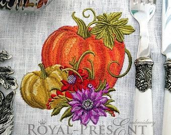Machine Embroidery Design Elegant Pumpkins