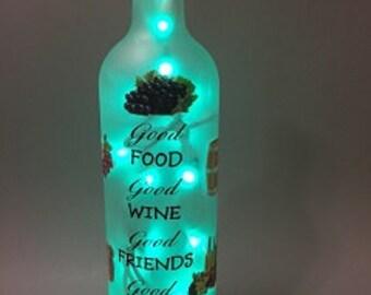 Good Times Wine Bottle Light