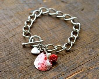 Fishing Lure Bracelet, Fishing Jewelry, Lure Bracelet - alLURE Bracelet (Queen of Hearts)