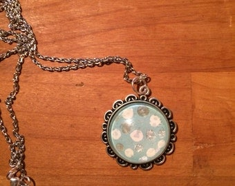 Dotted Ice Blue Pendant
