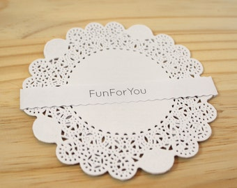 25, paper place mats, 12 cm table decoration, holiday scrapbooking, lace paper, Giftwrap, accessories