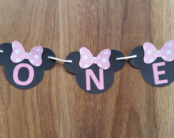 Minnie Mouse 'ONE' Cake Bunting