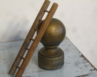 8 Pound Flagpole Topper , Antique Flagpole Finial , Large Flagpole Ball Top