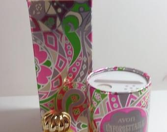 Avon Precious Pair Unforgettable Perfume .5 FL. Oz. & Perfumed Talc 1.5 Oz.. Mint in Box
