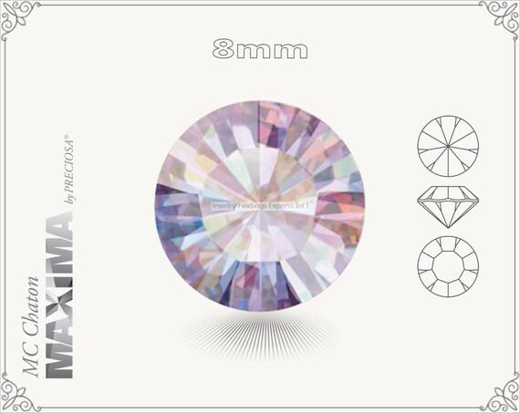 6 pc.+ SS39 (8mm) Preciosa MC Chaton MAXIMA - Light Amethyst AB Color