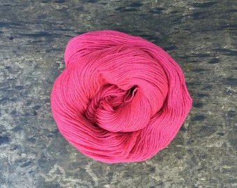 Organic Merino Sport Weight Yarn Naturally Dyed with Cochineal and Madder Root *Cranberry Dreams*