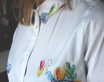 Shirt WITH Hand Embroidery Size M