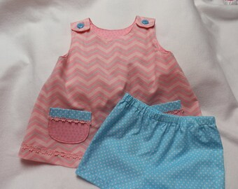 Girl's Pink Top with shorts