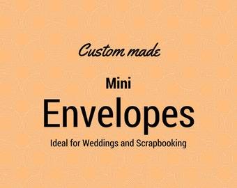 Custom Made, Mini Envelopes, Wedding Envelopes, Scrapbooking, Crafting Projects, Notelets, Paper Envelopes, Wedding Guest Book Alternative