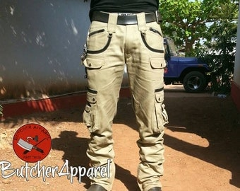 Men's cargo trousers, biker trousers (available as cargo shorts as well)