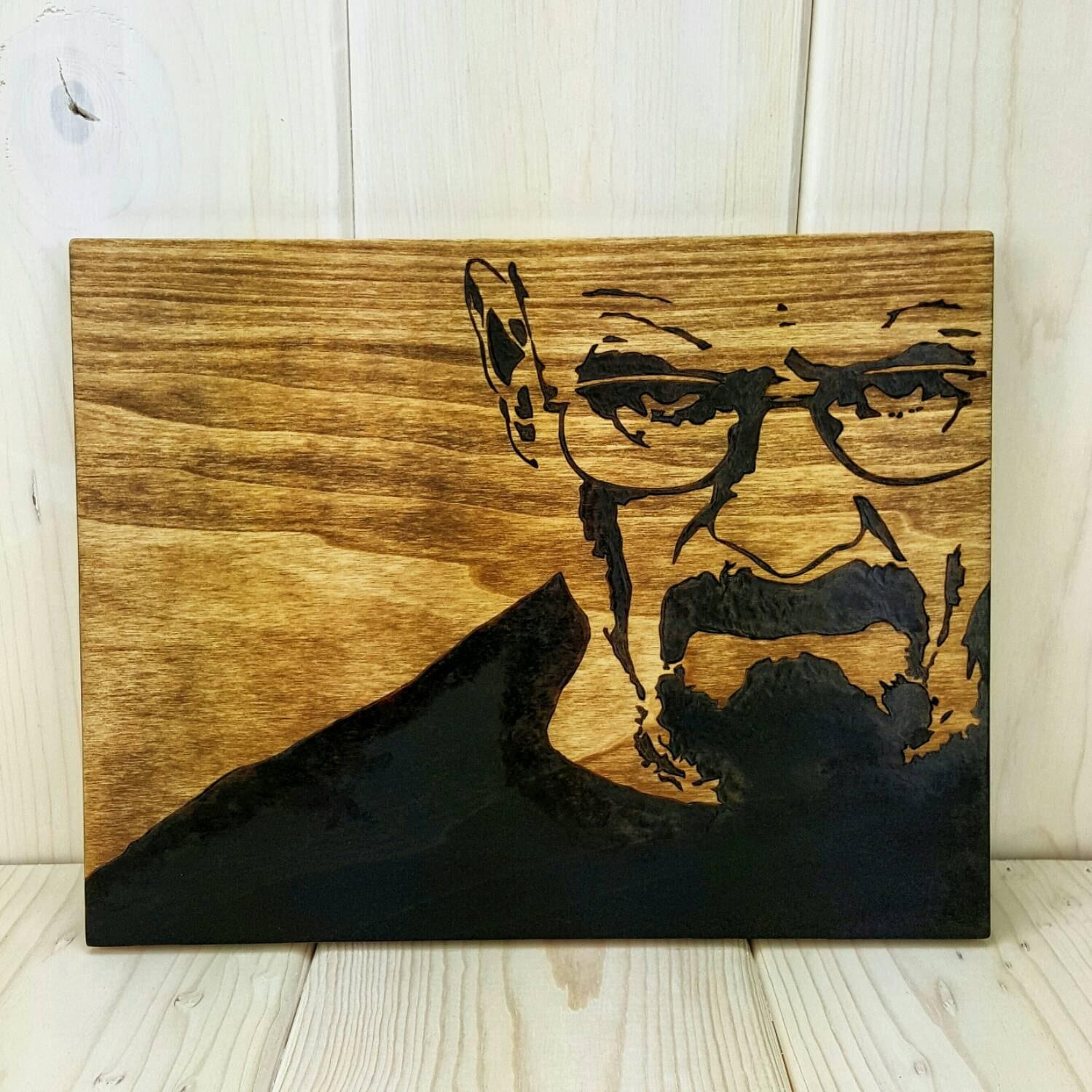 walter white wood wall art breaking bad art heisenberg art