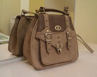 Vintage Small size Beige Lady Shoulder Bag Purse