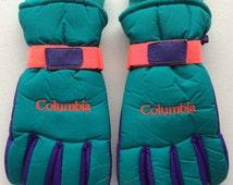 Columbia Vintage Ski Snow Gloves