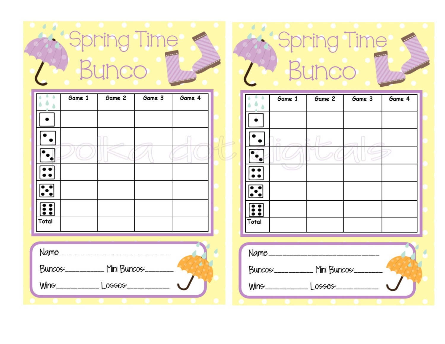 graphic relating to Printable Bunco Sheets titled Bunco Sheets Pics - Opposite Look