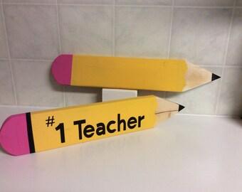 Teacher Pencil Customized Name PencilsTeacher Gift, school,