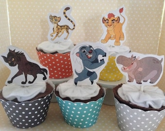 Lion Guard Party Cupcake Topper Decorations - Set of 10