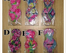 Personalized Lilly Inspired Key Chain