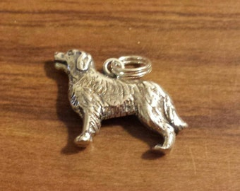Sterling Silver Golden Retriever Dog Charm by H&H