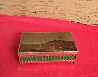 Vintage Jewelry Trinket Dresser Box Made in Italy