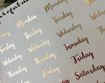 Days Gold Foil Planner Stickers