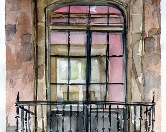 Glicée playback window - The window glicée print