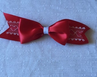 Red Hearts Hair Clip