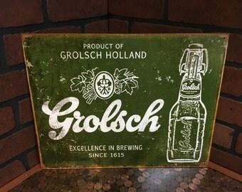 Grolsch Beer Tin Sign