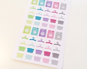 I13 || 50 Laundry Day Stickers