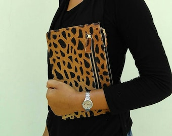 Basic calf hair case / wallet, cow hide walet, phone case, fur leather, cowhide, phone case, cow skin, wallet, basic wallet,