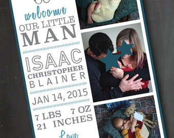 Little Man Birth Announcement