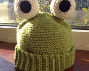 Little froggy! Crochet frog hat