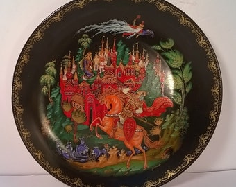 Vintage Russian Fairy Tale Plate of Ruslan and Ludmilla