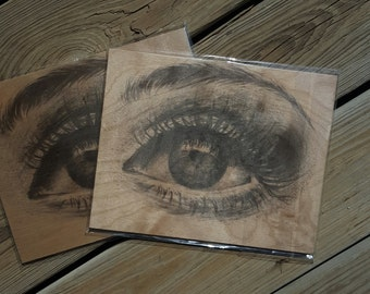 Eye Print on Wood