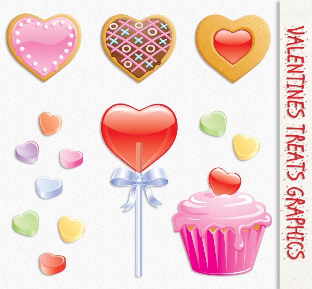 valentines clip art graphics sweet treats candy clipart scrapbook