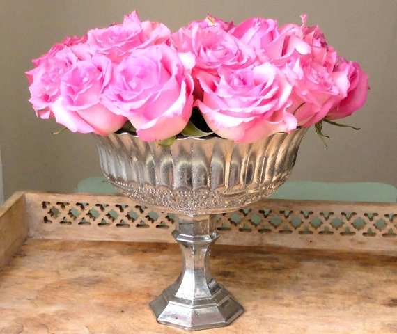 Wedding centerpiece gold mercury glass vase