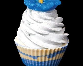 Hibiscus cupcake soap Blue
