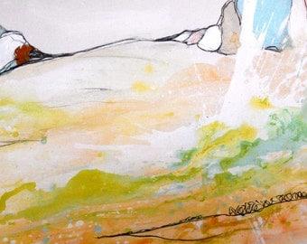 Acrylic painting pastel 150 x 100 cm