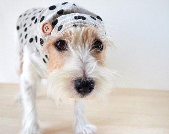"Dog Clothes Anti-Mosquito ""Polka dots"" Black"