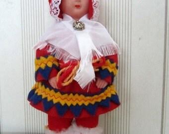 Finnish Lapland doll Vintage souvenir Sami doll