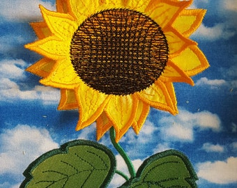 Sunflower 3D Applique Embroidery Design / Machine embroidery/ Applique / 3D embroidery