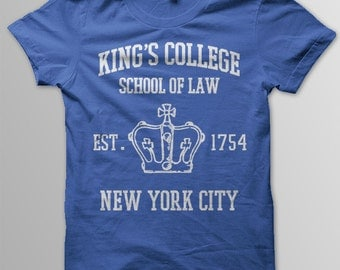 HAMILTON Shirt, Alexander Hamilton, Aaron Burr, King's College School of Law, Hamilton Gift, Hamilton, Burr 1800, Broadway Shirt
