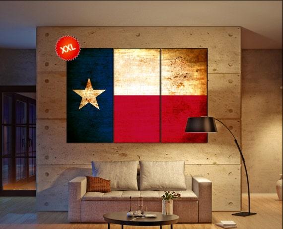 Texas flag  canvas wall art Texas flag  wall decoration Texas flag  canvas wall art art Texas flag  large canvas wall art