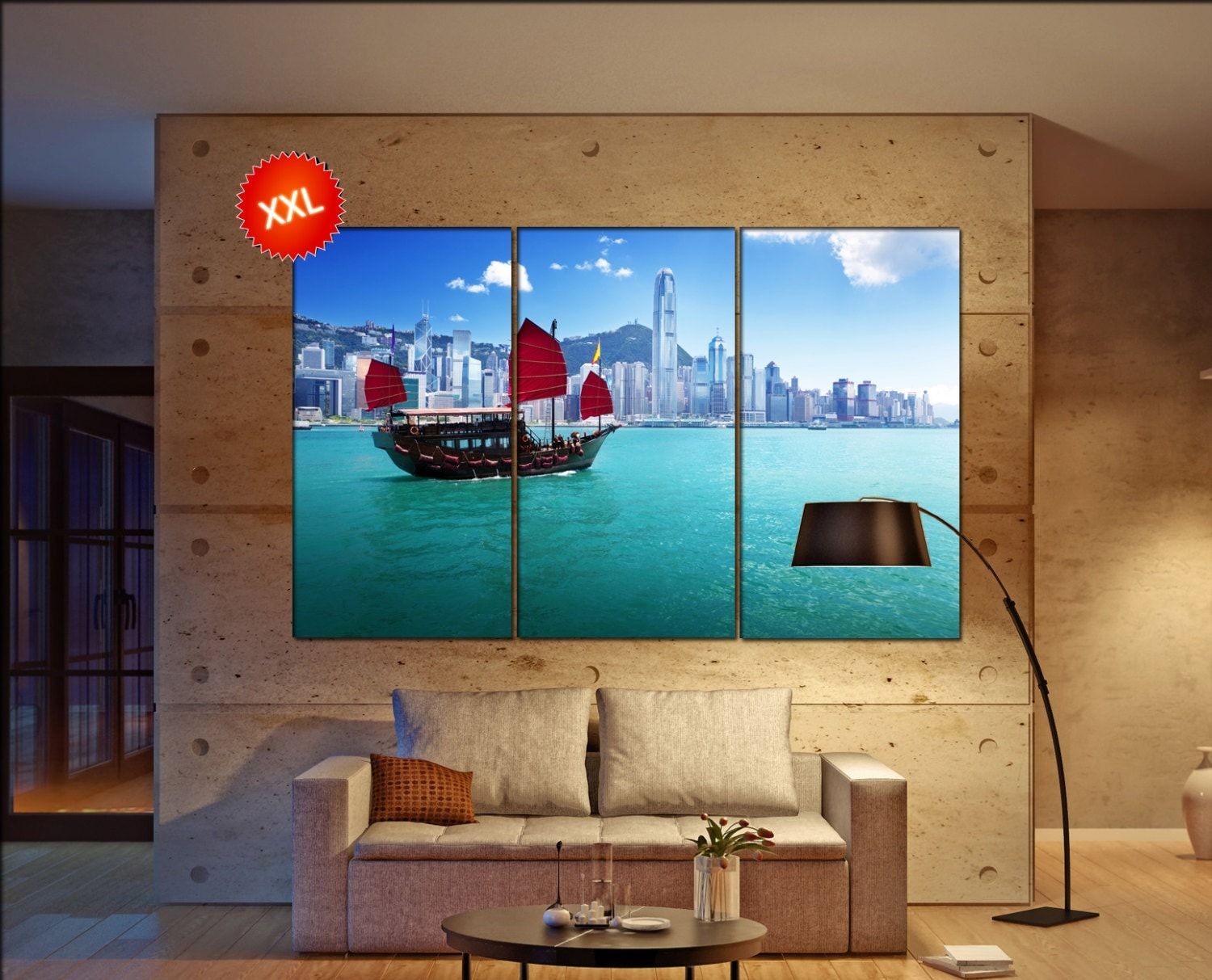 Wall Decoration Hk : Hong kong canvas wall art decoration