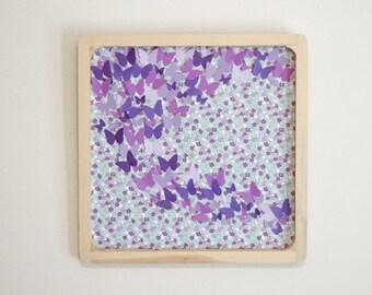 Girl's Room Decor, Purple, Butterfly Wall Art - Handmade Original Wall Art