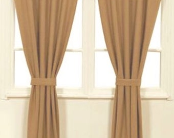 Curtains Ideas curtain panels 72 length : Burlap curtain panel – Etsy