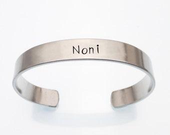 Noni Cuff Bracelet | Hand Stamped Gift For Noni | Grandmother Jewelry | Gift For Noni | Noni Hand Stamped Cuff Bracelet | Hand Stamped Cuff